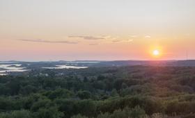 Sunset över Orust